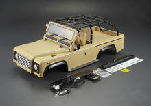 New 1/10 Scale Adventure Defender Land Rover D90 Taupe color Body assembly