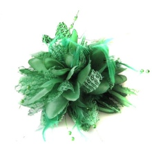Women Hair Clip Head Flower Feather Hairpin Fascinator Hairband Brooch Pin Hot SALE