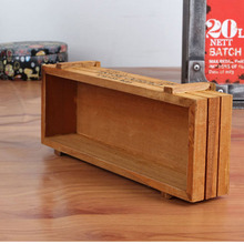 Antique Wooden Table Sundries Container Cosmetics Storage Box Home Multifunctional Flowerpot Office