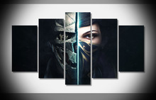 Game Mask Girl Poster unframed Gallery wrap home ornamentation pop art canvas pictures for living room