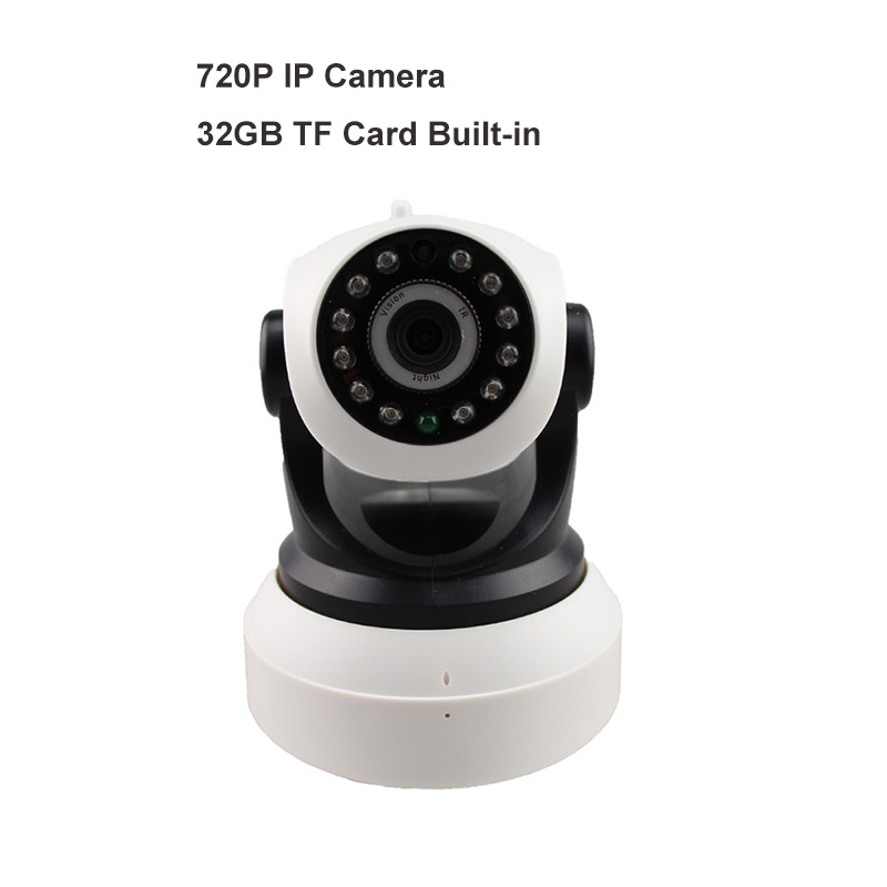 HD 720P Pan/Tilt Wireless IP Camera Onvif IR 15M Wi-Fi Connection 32GB TF Card Built-in<br>