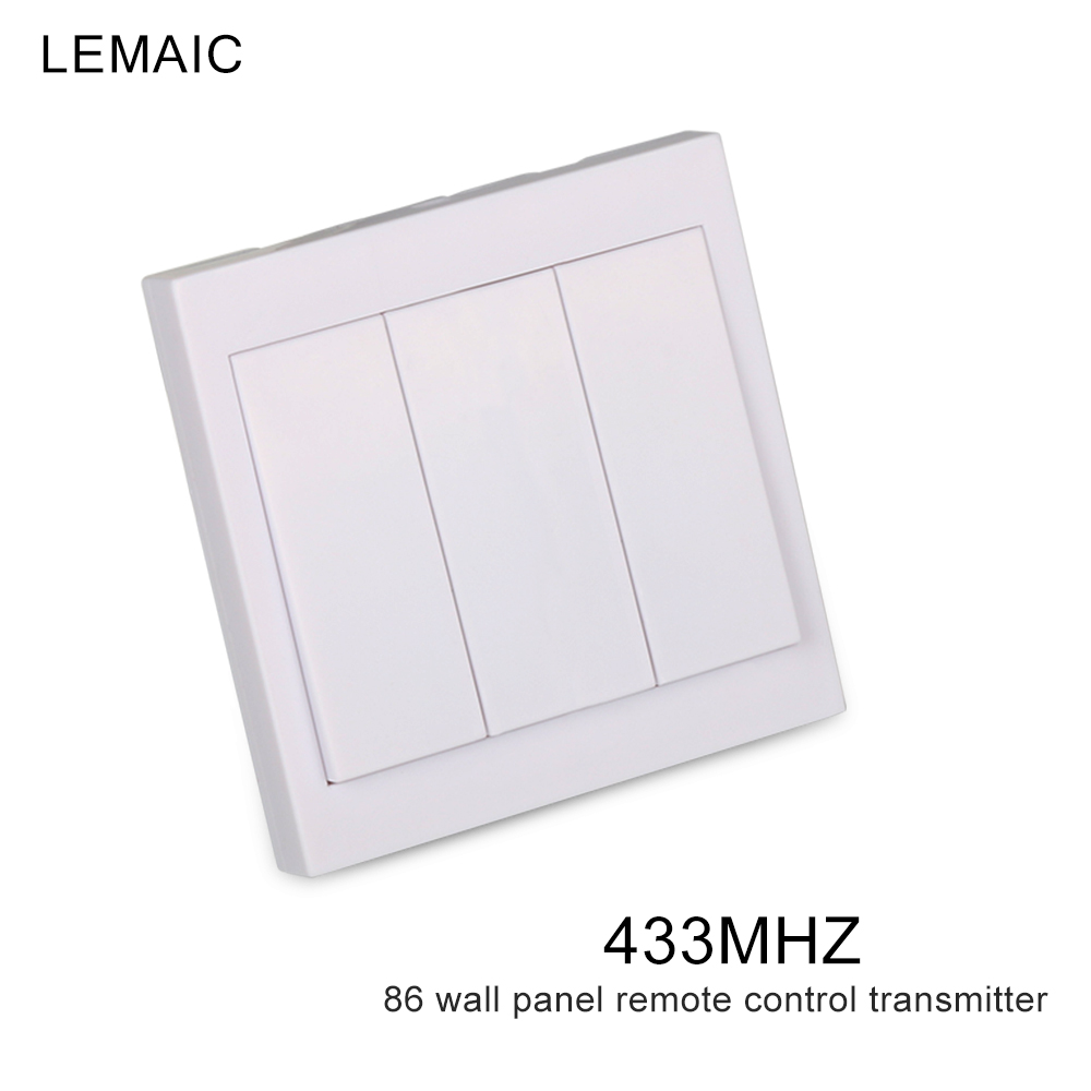 Smart Home 86 Wall Panel Remote Transmitter 3 Buttons Sticky RF TX Living Room Bedroom Corridor Light Wireless Switch 433 MHz