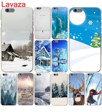 Lavaza Winter in Central Park Animated Winter Hard Case for iphone 4 4s 5c 5s 5 SE 6 6s 6/7/8 plus X for iphone 7 case(China)