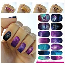 2017 Rushed New Water Transfer Foil Nails Art Sticker Mystery Galaxies Design Manicure Decor Decals Fashion Nail Wraps