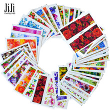 50Sheets Flower Full Wraps Nail Tip Decals Nail Art Water Transfer Stickers Beauty Manicure Decor Watermark Decal JIXF1372-1421