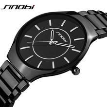 SINOBI ultra slim Top Brand Men's Boy Military Dress JAPAN Quartz Steel Watches Casual Clock Wristwatch Relogio Masculino Male