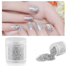 1Box Holographic Laser Powder Nail Glitter Rainbow Chrome Pigments Hologram Effect
