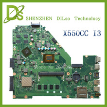For ASUS X550CC X550CL Laptop motherboard X550CC mainboard REV2.0 with graphics card i3 cpu onboard freeshipping 100% tested