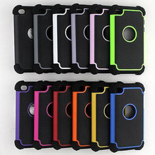 Cmeka Shockproof Triple Drop Resistance Hybrid Soft Silicon Back Skin Case For iPod Touch 4 5 Case For iPhone 5S 5C 6S 7 Plus