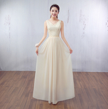 ladies women long champagne womans evening corset gowns lace dresses party elegan dress chiffon for sale free shipping S3466