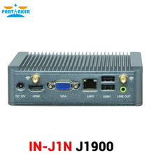 Small Linux Fanless Intel Quad Core J1900 2.0Ghz Mini PC Windows with 4G RAM support 3G Slot