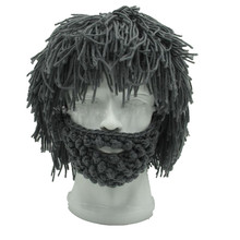 Winter Fashion Wig Beard Hats Hobo Mad Scientist Rasta Caveman Knit Warm Cap Men Women Halloween Gift Funny Party Mask Beanies(China)