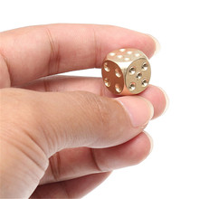 Brass Solid Copper Dice Gold Mahjong Dice for Game Gife Party Club Bar Supplies Drinking Entertainment Board Games Accessories(China)