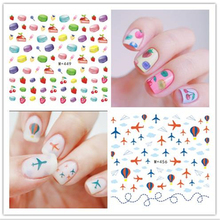 New Fashion Fruit Watermelon Apple Food Smile Decal Water Transfer Sticker Nail Art Decals DIY Decor Temporary Tattoo 1 piece(China)