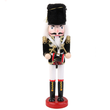 Hot Sale Quantity Hand Painted Christmas Wooden Nutcracker with Drum Christmas Decoration Birthday Gifts Toys for Children Kids(China)