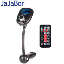 JaJaBor Bluetooth Handsfree FM Transmitter Car Kit MP3 Music Player Radio Adapter with Remote Control For All Smartphone(China)