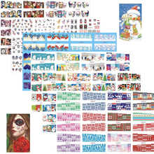 72pcs/set Halloween/ Christmas Nail Art Slider Water Transfer Stickes For Nails Decals Manicure DIY Beauty Decorations BN181-252