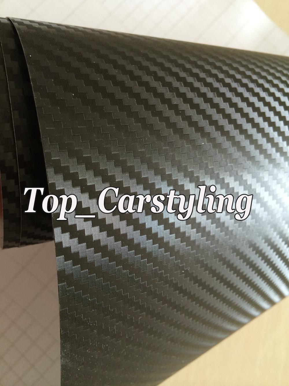 3D Big texture carbon fibre vinyl car wrapping film with air bubble free (5)