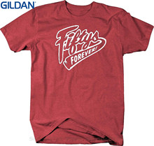 GILDAN Top Tees Custom Any Logo Size Fiftys Forever - 1950's Muscle Car Drive In Diner Style T Shirt