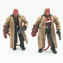 "2Styles MEZCO Hellboy with Cigar Variant Samaritan PVC Action Figure Collectible Model Toy 7"" 18cm(China)"