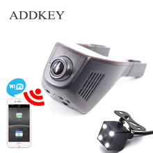 ADDKEY New Wifi APP 6G Lens Car Dvrs Car Dvr video Recorder 150 degree Car Camera Dash Cam Support Rearview Camera Dual recorder