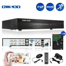 OWSOO 8CH Channel Full 960H/D1 H.264 HDMI P2P Cloud Network DVR Digital Video Recorder + 1TB Hard Drive Support Audio Record(China)