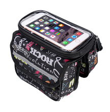 Bicycle Smart Phone Pouch Cycling Bike Top Frame Tube Bag Storage Pannier 5.0/5.7 inches Touch Screen Cycling MTB Road 121049