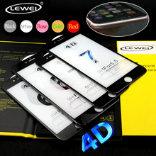 LEWEI 3D Curved Edge 4D COLD CARVING Full Cover Tempered Glass for iPhone 7 S 6 6S Plus Premium ScreenToughened Glass Protective