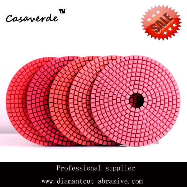 DC-LRPP02  D125mm 5 inch flexible wet angle grinder polish pads for Granite and Marble<br><br>Aliexpress