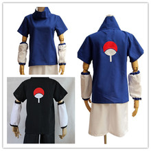 JP Anime Hot Selling naruto cosplay costume Naruto Naruto Uchiha Sasuke Cosplay Costume set(China)
