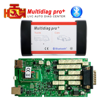Multidiag pro plus bluetooth Single green PCB cdp tcs 2014.R2 2015 R3 Keygen software OBD 2 auto dignostic-tool OBDII scanner