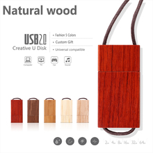 Natural Wood USB Flash Drive Custom Pen Drive High Speed USB 2.0 Flash Memory Stick Gift Pendrive 64GB 32GB 16GB 8GB 4GB 2GB 1GB(China)