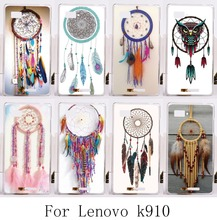 Phone Back Cover Case For Lenovo Vibe Z K910 K910L K910S K910I DIY Hard Plastic with Feather Pendant Telephone Accessories