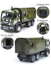 EFHH 1:50 Alloy Fire Military Special Vehicle Model Combination Head Can Be Active with Pull Back Sound Flashing Education Toys(China)