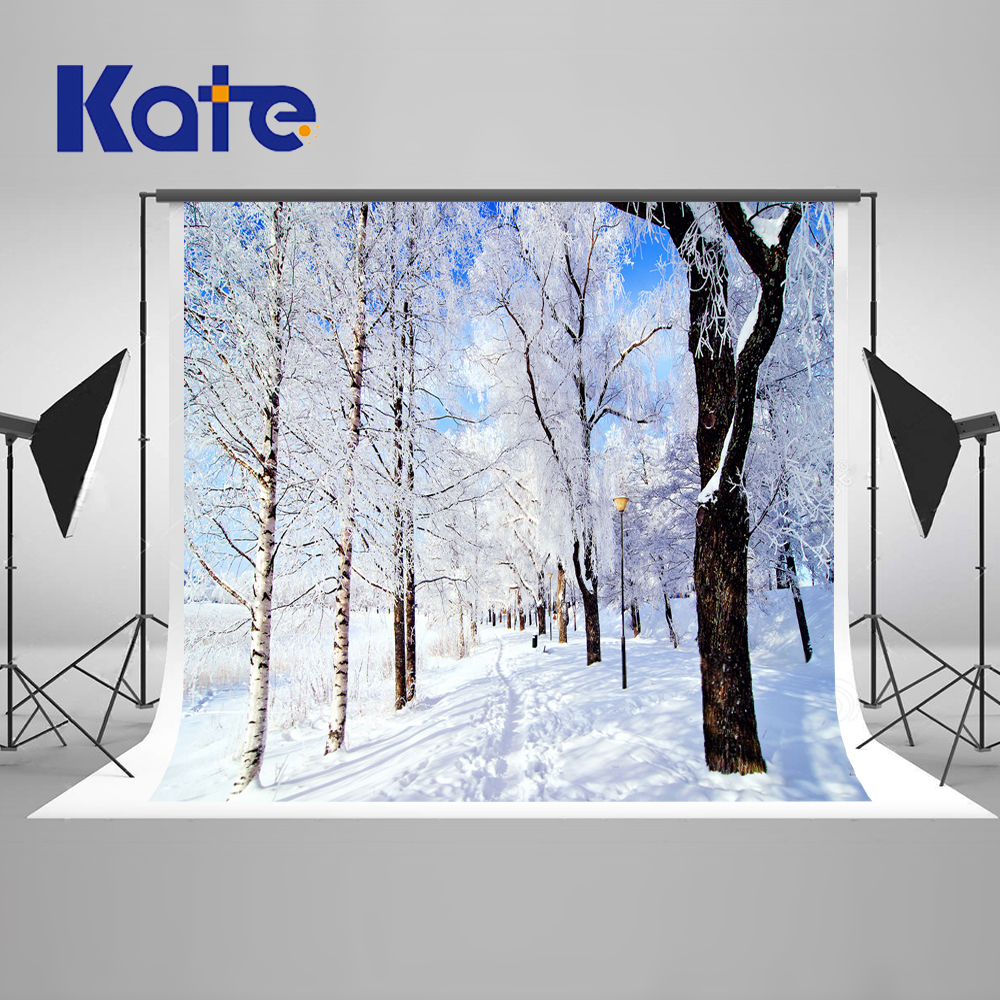 Kate Winter Frozen Photography Backdrops Trees Snowflake Scenic Studio Photography Microfiber Backdrop Children Background <br>