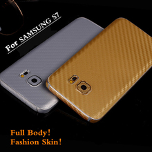 Front+Back Real Full Body Ultra Thin Frosted Carbon Fibre Sticker Cover Case Skin For Samsung Galaxy S7 G9300
