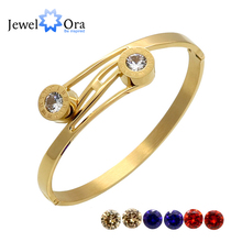 4 colors /set Fashion Roman Numerals Cuff Bangles Gold Color Stainless Steel Bracelets & Bangles For Women (JewelOra BA101620)