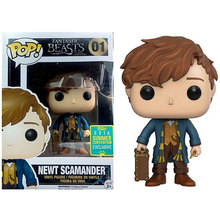 In Stock Funko POP Figures Fantastic Beasts And Where to Find Them Newt Scamander with Case Vinyl Action Figure Collectible
