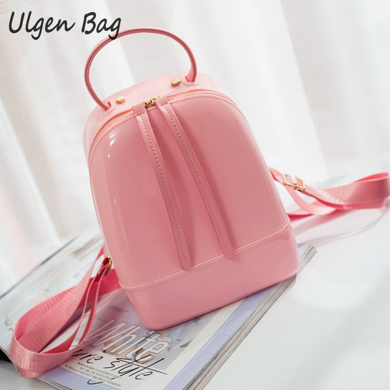 Candy Color Summer Jelly Backpacks Waterproof PVC School Bags Plastic Silicone Women Shoulder Bags Girls Backpack<br><br>Aliexpress