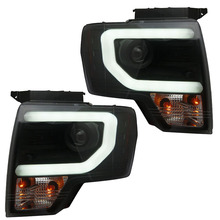 for Ford Raptor F150 Bi-xenon Headlights with Led tube light Black / Silver Housing fit 2008-2014 year cars(China)