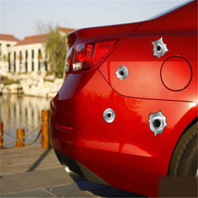 -50% OFF One Piece 3 Styles 3D Bullet Hole Shot Sticker Decal For Car Motorcycle Bike Home Office Windows Car-styling