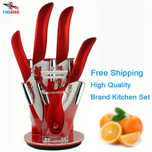 "Beauty Gifts brand high quality 6 piece a set Zirconia kitchen set Ceramic Knife tool Set 3"" 4"" 5"" 6"" inch + Peeler+Holder(China)"