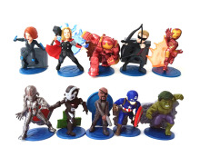 Marvel The Avengers Thor Captain American Iron Man Hulk Nick Fury Mini Figure