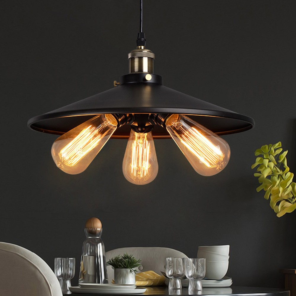 D45cm Customizing American Country Industrial Lamp Vintage RH Loft Warehouse Pendant Light 3 Heads Droplight Iron Art Lighting<br><br>Aliexpress