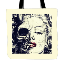Happy Halloween Designs Printing Skull Beauty Tote Bag For Shopping Food Convenience Women Shoulder White Canvas Hand Bags(China)