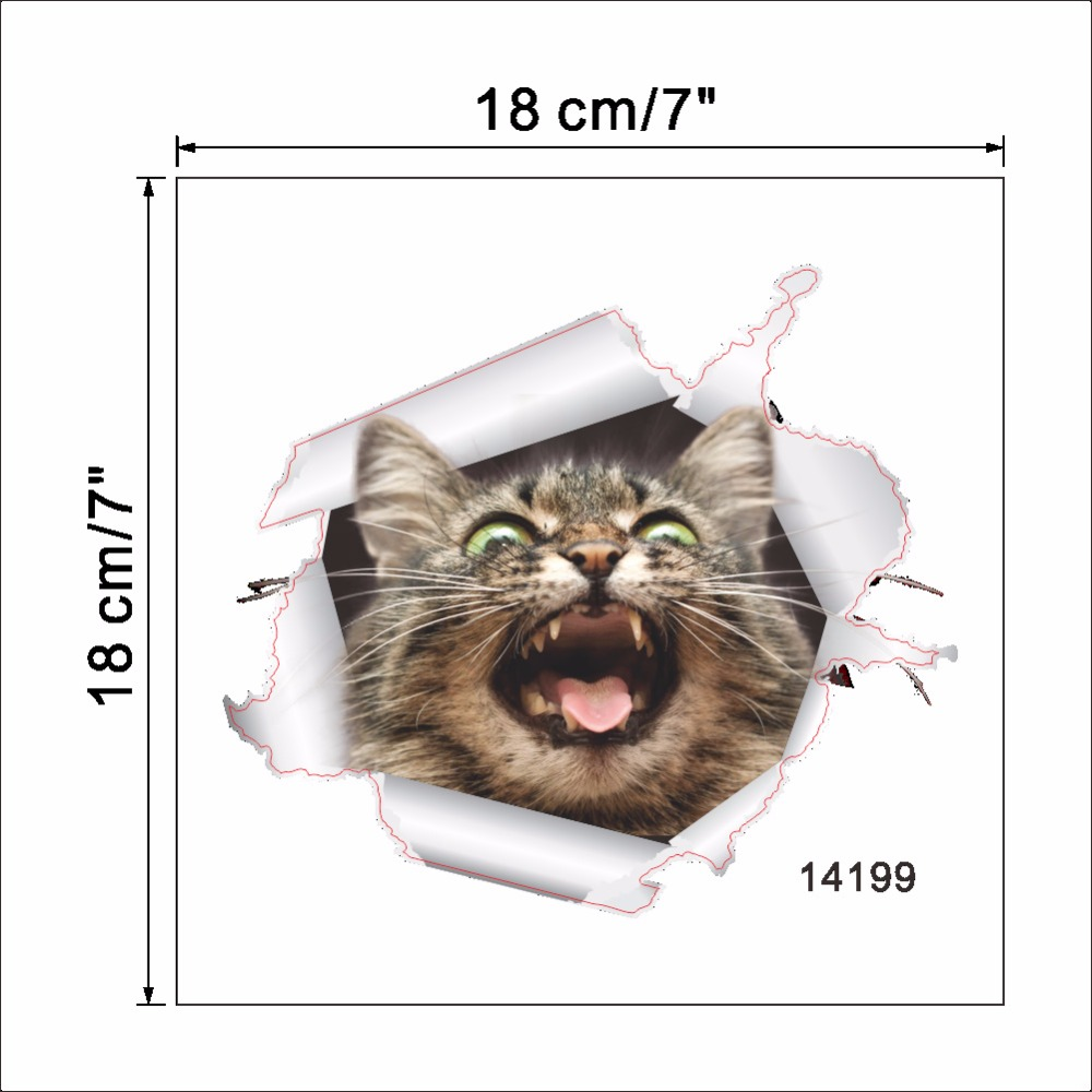 Cats 3D Wall Sticker Toilet Stickers Hole View Vivid Dogs Bathroom Cats 3D Wall Sticker Toilet Stickers Hole View Vivid Dogs Bathroom HTB1Mn ImgLD8KJjSszeq6yGRpXau
