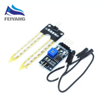 Smart Electronics Soil Moisture Hygrometer Detection Humidity Sensor Module Development Board DIY Robot Smart Car tu 1PCS(China)