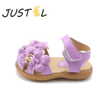 Children's shoes 2017 spring summer new KIDS's sandals girls flowers baby soft bottom flower shoes size21-30