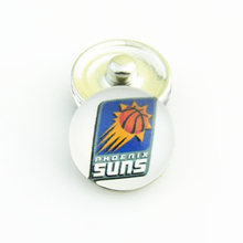 20pcs/lot NBA Fashion Basketball Sports Phoenix Suns Glass Snap Button Charms for DIY 18mm Snap Bracelet Jewelry