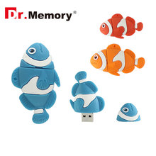 Dr.Memory 4/8/16/32 GB USB Flash Drive Cute Fish Shape Pen Drive Memory USB Stick Special Gifts Download Storage USB Pendrive